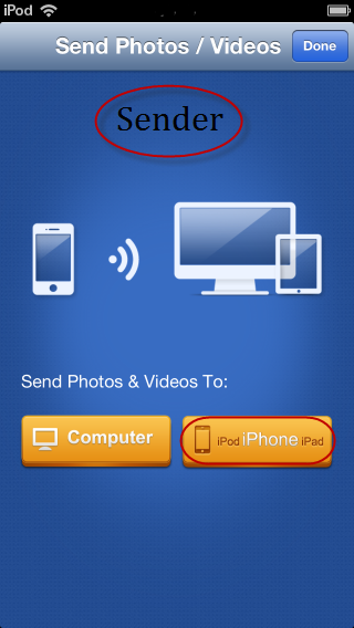 how to send photos via bluetooth on iphone to computer